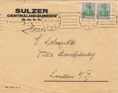 23383. Carta MANHEIM (Alemania Reich) 1922. Comercial Sulzer
