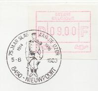 BELGIË/BELGIQUE:Illustr. Date Cancell. On Fragment:  ## 5-8-83 : NIEUWPOORT : 75 Jaar Slag Aan De Ijzer ## : 1st WAR,
