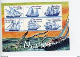 Mozambique 2002-Voiliers-YT 1802/7***MNH