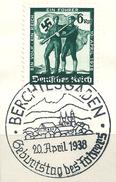 MiNr. 663 Briefstück, Sonderstempel: BERCHTESGADEN (b31)