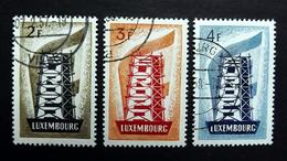 Luxemburg 555/7 Oo/used, EUROPA/CEPT 1956
