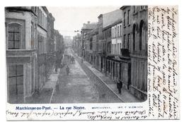 CPA MARCHIENNE AU PONT Charleroi La Rue Neuve Animée Cariole Attelage - Châtelet