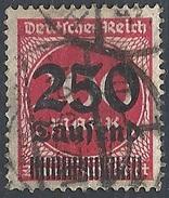 Germania -  1923 Cifra 250t Su 200m Rosso F.2 # Michel 292 - Scott 256 - Unificato 268 - Usato
