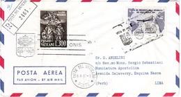 ITALIA 1961  GRONCHI LIRE 205  AEREOGRAMMA PER  PER LIMA PERU' - 1961-70: Marcofilie