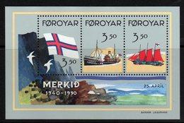 Faroe Islands Fishing Boats Miniature Sheet Mnh