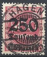 Germania -  1923 Cifra 250t Su 500m Rosa F.2 # Michel 296 - Scott 259 - Unificato 271 - Usato