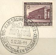 MiNr. 640 Briefstück, Sonderstempel: KARLSRUHE (b31)