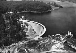 12 - PARELOU : Le Barrage : Vue Aérienne - CPSM Dentelée Noir Blanc Grand Format - Aveyron - France
