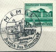 MiNr. 673 Briefstück, Sonderstempel: MEMEL  (b31)