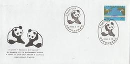 Superbe Oblitération De Panda Sur Env. Commémorative Du Don De Cet Animal De La Chine à La France. (thématique)