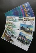 Malaysia Express Rail Link 2002 Railway Train Locomotive Transport Vehicle Transportation Trains (FDC Set)
