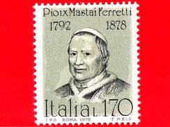 Nuovo - MNH - ITALIA - 1978 - Uomini Illustri - 6ª Emissione - Pio IX - Mastai Ferretti, Papa - 170 L.