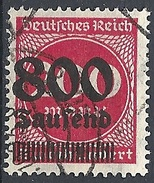 Germania -  1923 Cifra 800t Su 200m Rosso F.2 # Michel 303 - Scott 263 - Unificato 275 - Usato