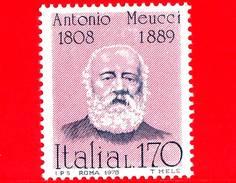 Nuovo - MNH - ITALIA - 1978 - Uomini Illustri - 6ª Emissione - Antonio Meucci, Inventore - 170 L.