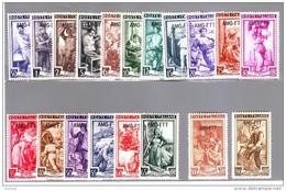 TRIESTE A 1950    CAT.SASS. 89/107  ITALIA AL LAVORO Serie Completa Filigrana Ruota MNH**
