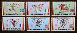 LIBERIA - YT N°562 à 567 - Jeux Olympiques De Munich / Sports - 1972 - Neufs