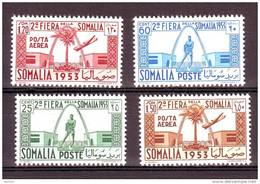 SOMALIA  AFIS  SOMALILAND 1953  II FIERA SOMALA  Serie Completa Con Aerea 4 Val. MNH**