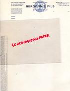47 - SAINTE LIVRADE - LETTRE VIERGE BERGONNIE FILS - SCIERIE -SABOTERIE-TOURNERIE - BOIS CONSTRUCTION - France