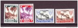 SOMALIA AFIS SOMALILAND 1954  ASSISTENZA LEBBROSI SOMALI   + AEREA Compl. 4 VAL MNH **