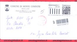 """BR158 - STORIA POSTALE - COMUNI D'ITALIA: """"MONTE COMPATRI (RM)"""" Busta Racc. Viaggiata Nel 2008"""
