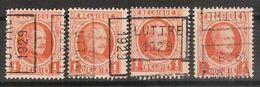 Zegel Nr. 190 Voorafgestempeld Nr. 4520 Positie  A En B  C En D  LUTTRE 1929 ** MNH  ;  Zie Scan ! Inzet 10 € !