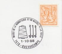 BELGIË/BELGIQUE:Illustr. Date Cancell. On Fragment: ## 1-10-87 : QUEVAUCAMPS : Musée De La Bonnetterie Et Du Négoce ... - Textile