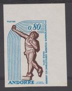 ANDORRE  IMPERF/NON DENT  ATHLETISME  YVERT N° 205  No Gum   Réf  1268a
