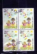 ITALIA REPUBBLICA ITALY REPUBLIC 1991 CONVENZIONE SUI DIRITTI SULL´INFANZIA LIRE 600 USATO USED OBLITERE'