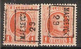 Zegel Nr. 190 Voorafgestempeld Nr. 4521 Positie  A En B  MAESEYCK 29 ** MNH  ; Staat Zie Scan ! Inzet 5 € !