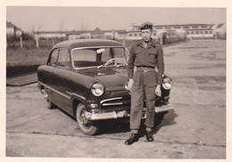 26080  Photo -regiment Belge 5 Ieme Genie Westhoven -  Belgique - Occupation Allemagne Cologne Koln- Vieille Voiture - Automobiles