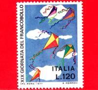 Nuovo - MNH - ITALIA - 1977 - 19ª Giornata Del Francobollo - 120 L. - Volo Di Aquiloni