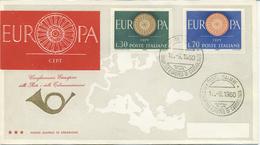 ITALIA - FDC 1960 TRE STELLE - EUROPA UNITA - CEPT