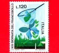Nuovo - MNH - ITALIA - 1977 - 19ª Giornata Del Francobollo - 120 L. - Cattura Delle Farfalle