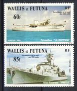 WF 1981 Serie N. 279-280 Navi Da Guerra MNH Cat. € 4,60 - Wallis E Futuna