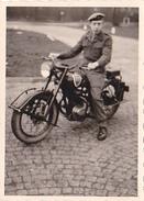26082  Photo -regiment Belge 5 Ieme Genie Westhoven - Belgique Cologne Koln- Moto FN Fabrique Nationale 350cc Type XIII