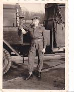26083  Photo -regiment Belge 5 Ieme Genie Westhoven -  Belgique - Allemagne Cologne Koln- Materiel Camion - Guerre, Militaire