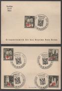 III REICH - GENERAL GOUVERNEMENT - CROIX ROUGE / 1940 SERIE COMPLETE SUR FEUILLET FDC  (ref LE1043)