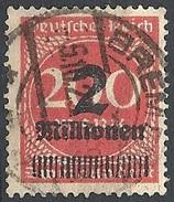 Germania  - 1923 Cifra S/s 2Mn Su 200m Rosso  F. 2 # Michel 309 - Scott 269 - Unificato 281 - Usato