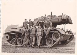26084  Photo -regiment Belge 5 Ieme Genie Westhoven -  Belgique - Allemagne Cologne Koln- Char - Guerre, Militaire