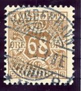 DENMARK 1907 Avisporto (newspaper Accounting Stamps) 68 Øre Used.  Michel 7 - 1905-12 (Frederik VIII)