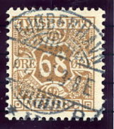 DENMARK 1907 Avisporto (newspaper Accounting Stamps) 68 Øre Used.  Michel 7
