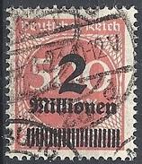 Germania  - 1923 Cifra S/s 2Mn Su 500m Rosso  F. 2 # Michel 311 - Scott 271 - Unificato 283 - Usato