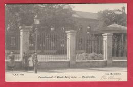 Quiévrain - Pensionnat Et école Moyenne  - 1902 ( Voir Verso ) - Quiévrain