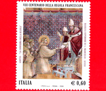 Nuovo - MNH - ITALIA - 2008 - 8º Centenario Della Regola Francescana - 0,60 € - Affresco Di Giotto