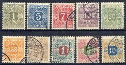 DENMARK 1907 Avisporto (newspaper Accounting Stamps) Set Of 10 Used.  Michel 1-10X