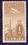 DENMARK 1934 Airmail LHM / * .  Michel 221 - 1913-47 (Christian X)