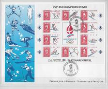 Enveloppe Premier Jour D'émission Numismatique XVI Jeux Olympiques D'hiver - FDC