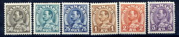 DENMARK 1934-41 King Christian X Definitive LHM / * .  Michel 210-14, 265 - Unused Stamps