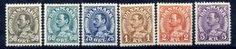 DENMARK 1934-41 King Christian X Definitive LHM / * .  Michel 210-14, 265 - 1913-47 (Christian X)