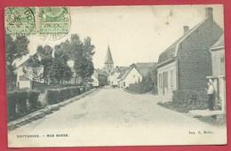 Dottignies - Rue Basse - 1906 ( Voir Verso ) - Moeskroen